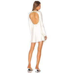 C/MEO Polarised Satin Cutout Cowl Neck Dress
